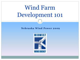 Wind Farm Development 101