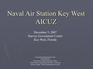 Naval Air Station Key West  AICUZ