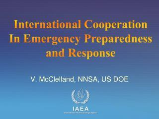 V. McClelland, NNSA, US DOE