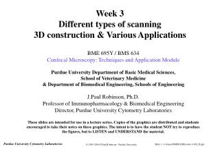 Week 3 Different types of scanning 3D construction & Various Applications