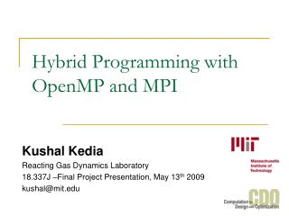 Hybrid Programming with OpenMP and MPI