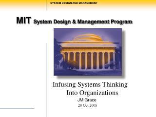 MIT  System Design & Management Program