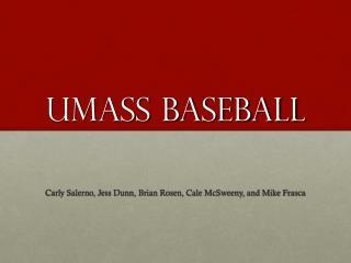 UMass Baseball