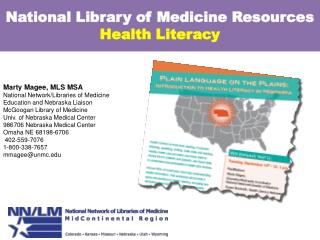 National Library of Medicine Resources  Health Literacy