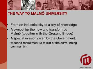 THE WAY TO MALMÖ UNIVERSITY