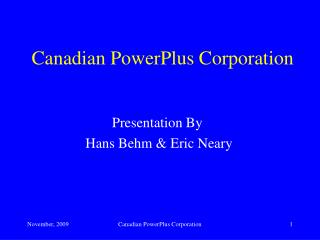 Canadian PowerPlus Corporation