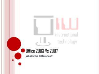 Office 2003 Vs 2007