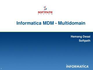 Informatica MDM -  Multidomain