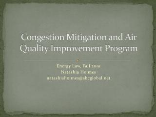 Congestion Mitigation and Air Quality Improvement Program