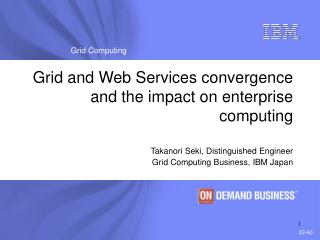 Grid and Web Services convergence and the impact on enterprise computing
