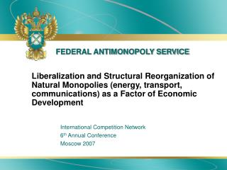 FEDERAL ANTIMONOPOLY SERVICE