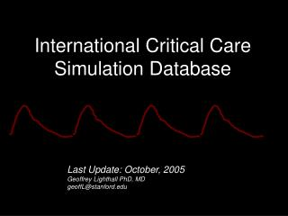 International Critical Care Simulation Database