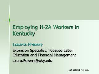 Employing H-2A Workers in Kentucky