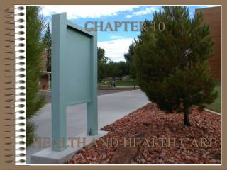 CHAPTER 10       HEALTH AND HEALTH CARE