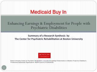 Medicaid Buy In