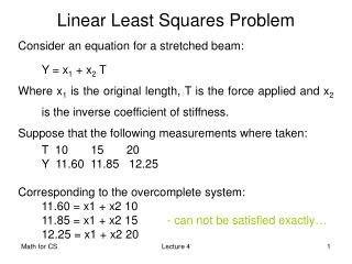 Linear Least Square s  Problem