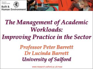 The Management of Academic Workloads:  Improving Practice in the Sector