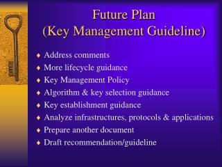 Future Plan (Key Management Guideline)
