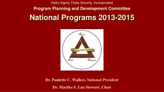 Delta Sigma Theta Sorority, Incorporated Program Planning and Development Committee