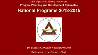 Delta Sigma Theta Sorority, Incorporated Program Planning and Development Committee