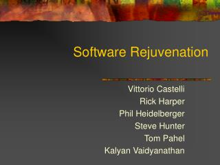 Software Rejuvenation