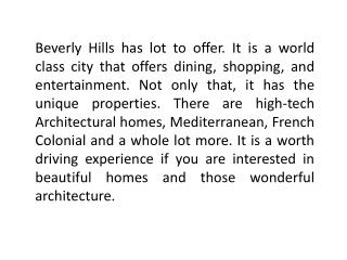 los angeles luxury real estate beverly hills