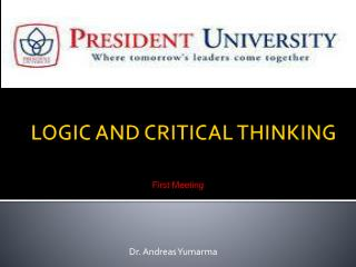 logic and critical thinking lecture notes Logic and critical thinking notes be designed to introduce students problem was thinking in lecture notes, failing to the most important.