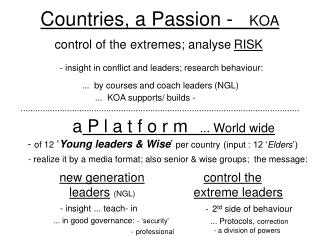 new generation    leaders (NGL) .