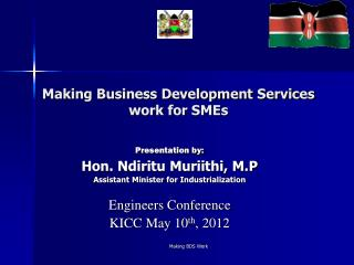 Making Business Development Services work for SMEs