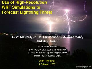 Use of High-Resolution WRF Simulations to Forecast Lightning Threat