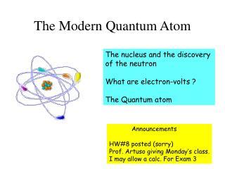 The Modern Quantum Atom