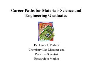 Career Paths for Materials Science and Engineering Graduates
