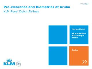 Pre-clearance and Biometrics at Aruba