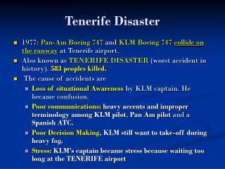 Tenerife Disaster