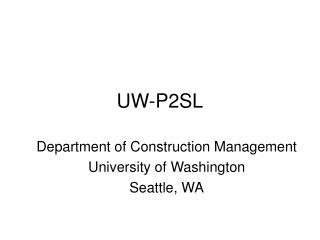 UW-P2SL
