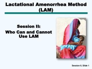 Lactational Amenorrhea Method (LAM)