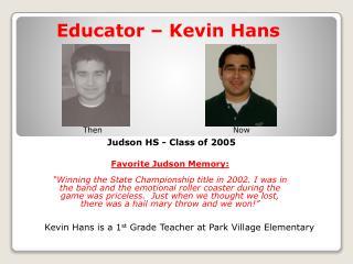Favorite Judson Memory: