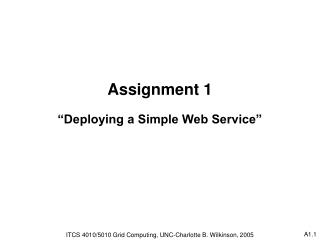 "Assignment 1 ""Deploying a Simple Web Service"""