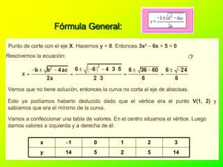 Fórmula General:
