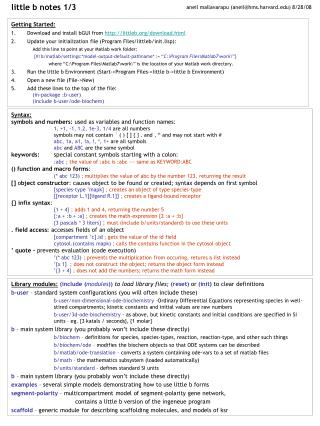 Syntax: symbols and numbers:  used as variables and function names: