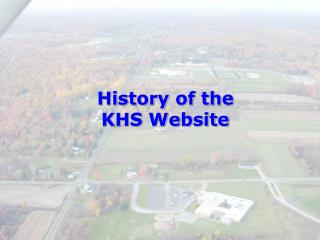 History of the KHS Website