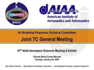 Air Breathing Propulsion Technical Committees Joint TC General Meeting