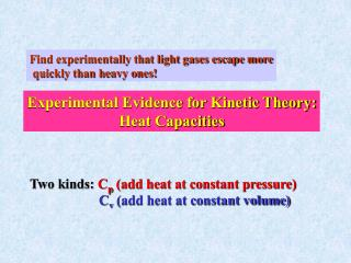 Find experimentally that light gases escape more  quickly than heavy ones!
