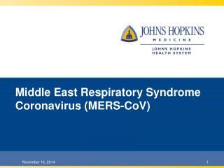 Middle East Respiratory Syndrome Coronavirus (MERS-CoV)