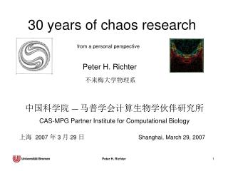 30 years of chaos research