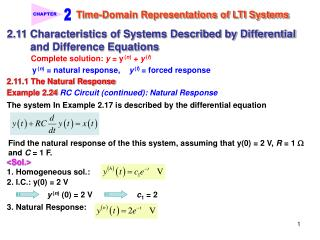 Time-Domain Representations of LTI Systems