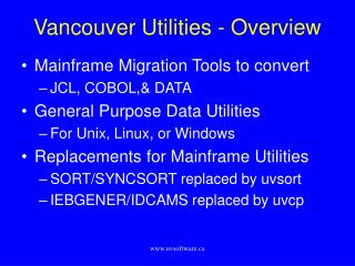 Vancouver Utilities - Overview