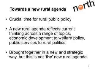 Towards a new rural agenda