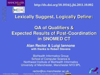 Alan Rector & Luigi Iannone with thanks to Robert Stevens
