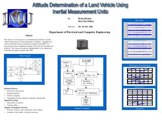 Attitude Determination of a Land Vehicle Using Inertial Measurement Units
